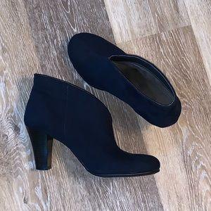 Aerosoles Winterstrole Blue Heel Booties Boots 9.5